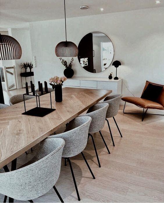 Elegant Scandinavian industrial dining room design
