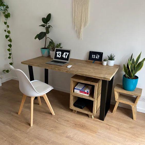 Basic wooden office desk