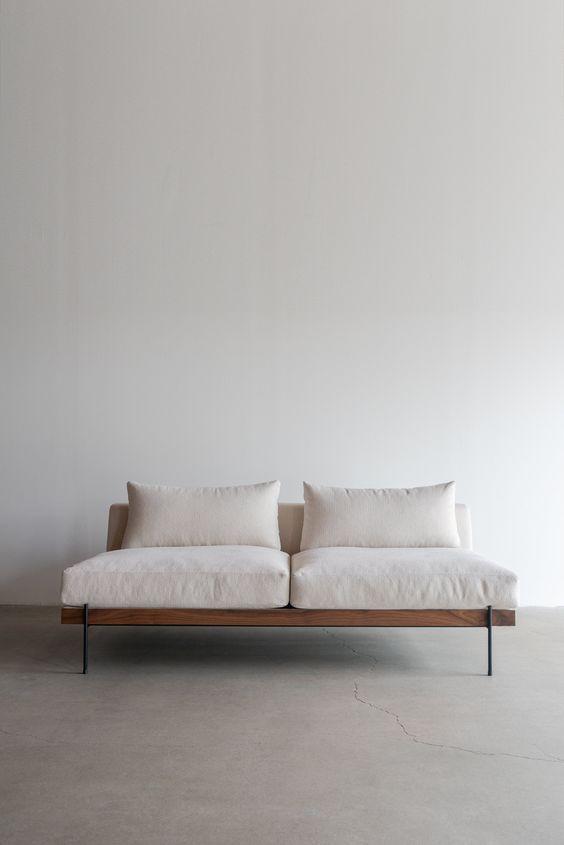 White simple sofa style