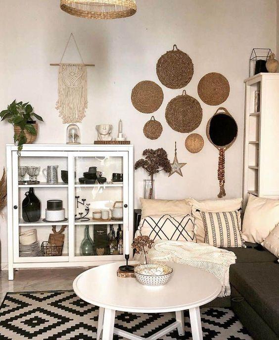 Bohemian living room interior concept