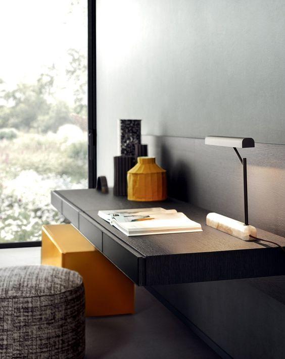 Industrial wall mounted office desk