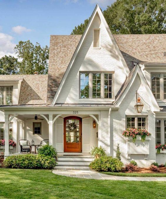 White bohemian gable roofs