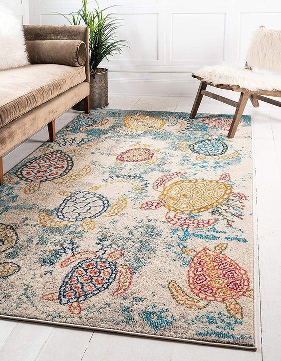 Turtle bohemian rug patterns