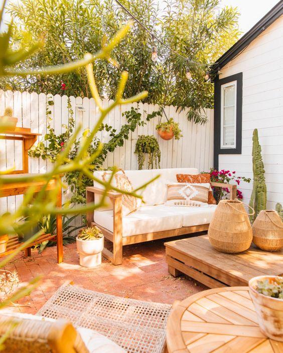 Aesthetic bohemian patio
