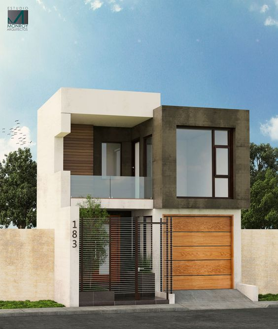 Dark brown and white home building concept
