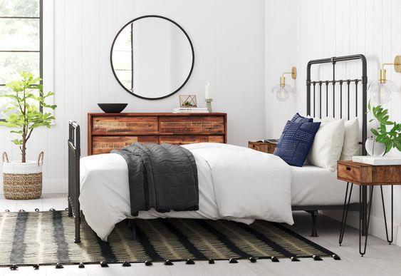 Simple industrial chic bedroom