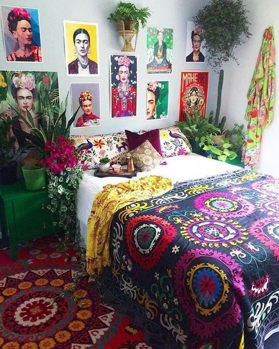 Colorful bohemian: Unique pattern and decorations