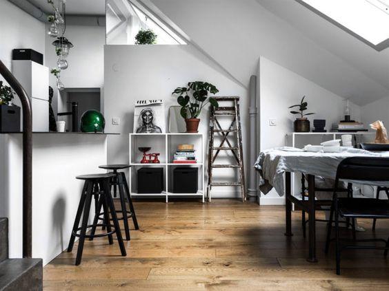 Metal furniture for a studio apartment