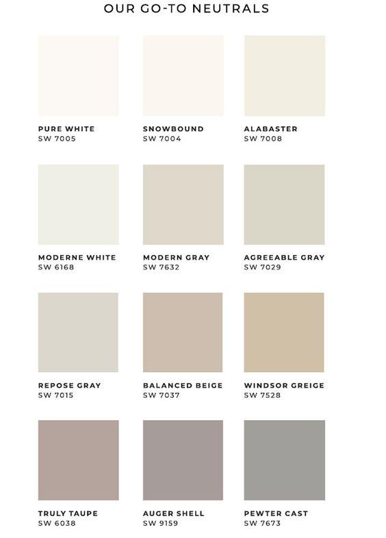Neutral colors palette