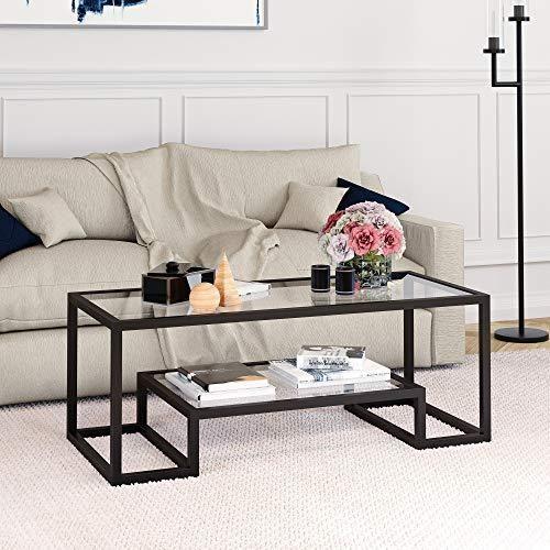 Glass Scandinavian industrial coffee table