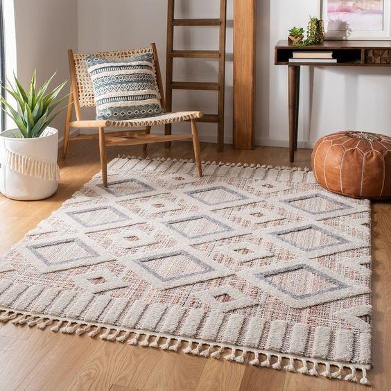 White bohemian rugs