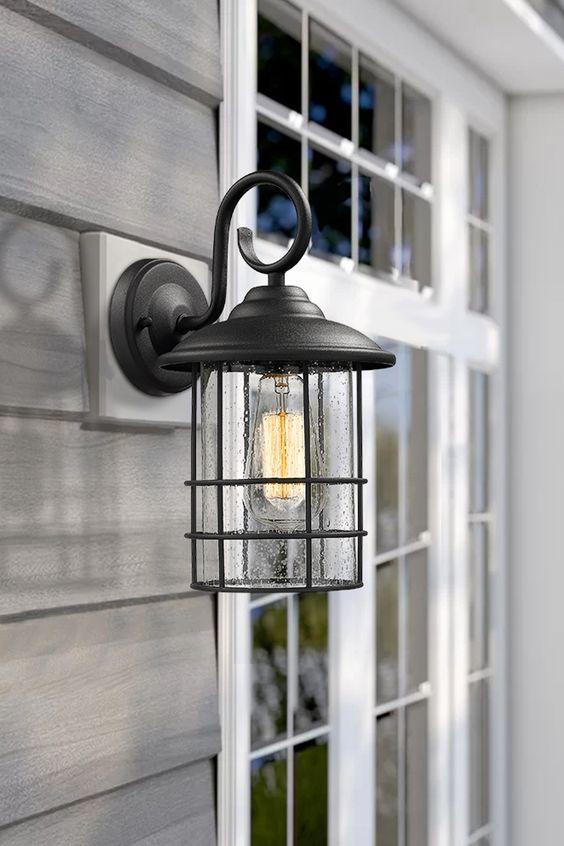 Minimalist elegant modern industrial exterior exterior wall light
