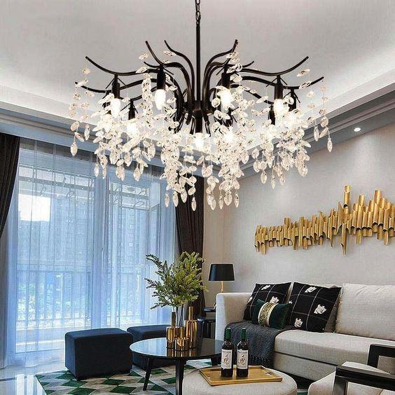 Folius crystal chandelier