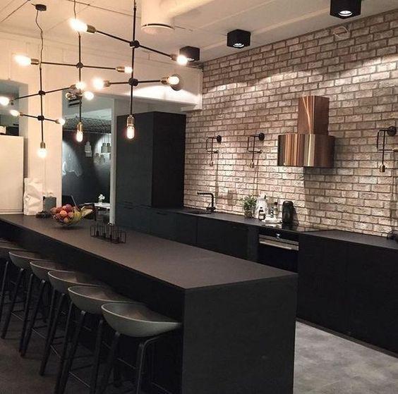 industrial kitchen design idea