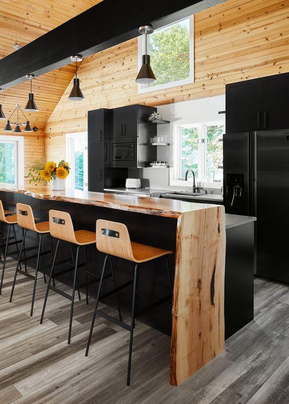 modern cabin kitchen idea