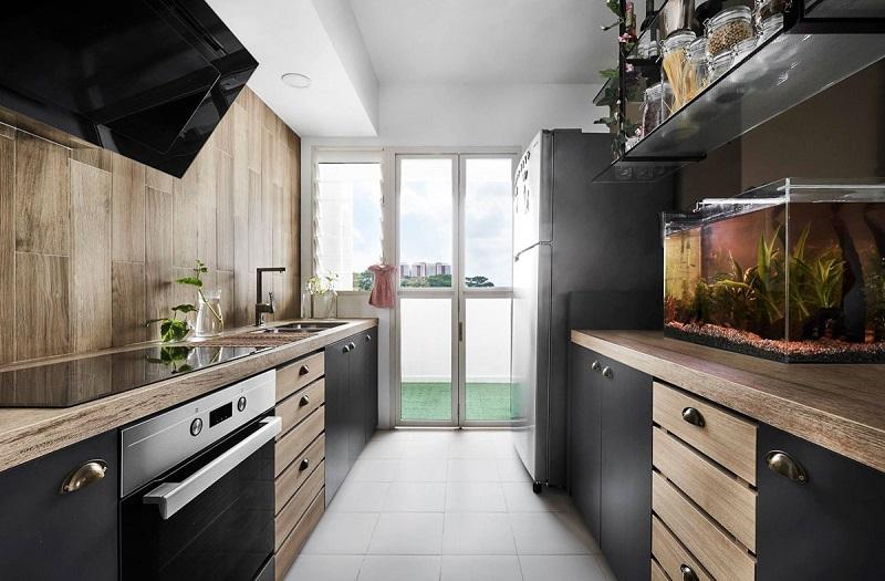 sleek masculine kitchen design