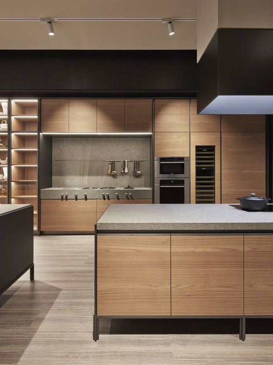 sophisticated masculine kitchen